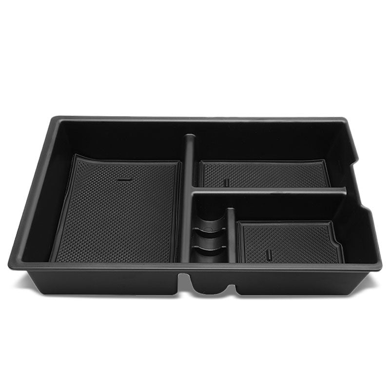 Black Center Console Storage Organizer Top Tray Lid For 09-10 Dodge Ram 1500-Interior-BuildFastCar