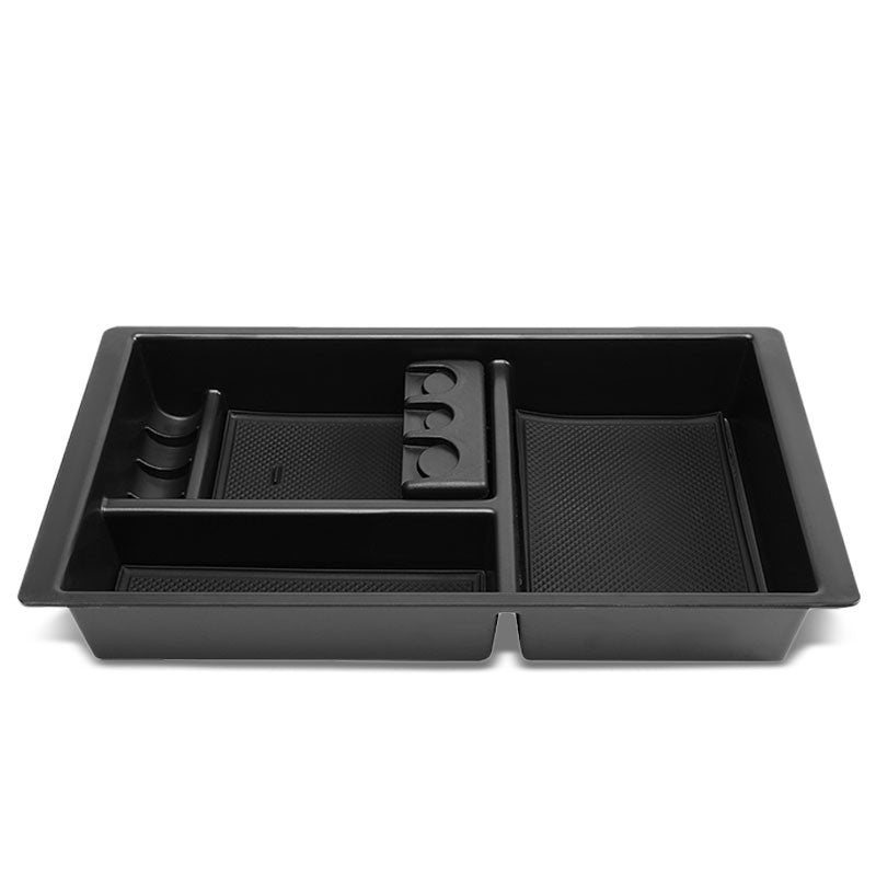 Black Center Console Organizer Coin Holder Top Tray Lid For 14-18 Silverado 1500-Interior-BuildFastCar