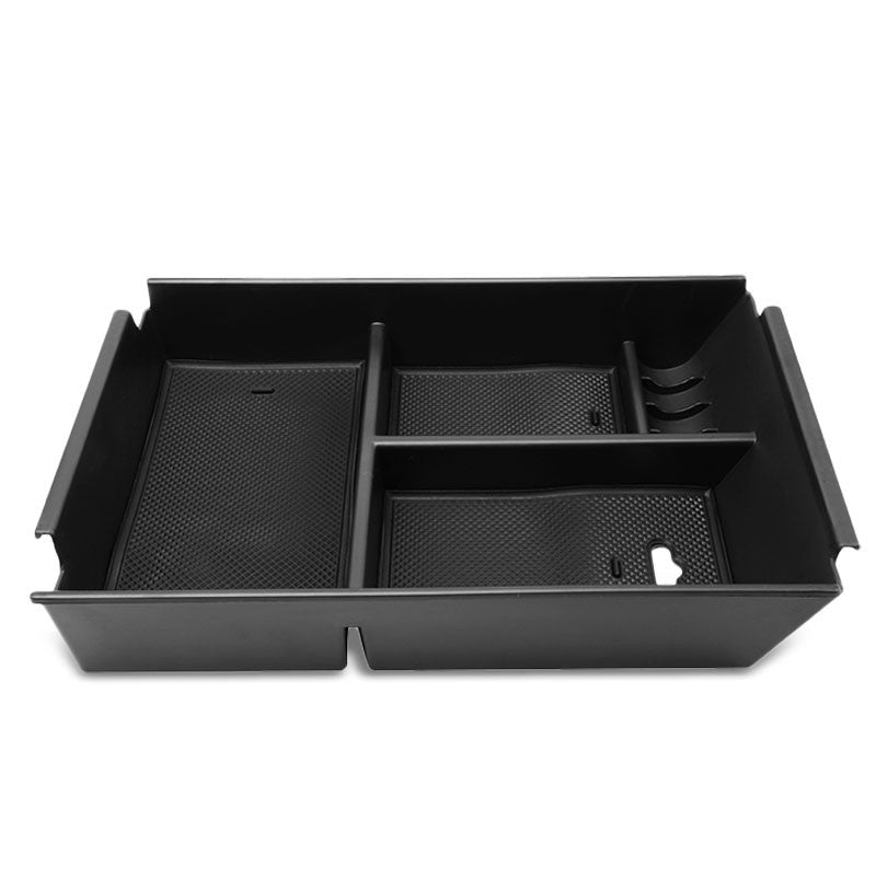 Black Center Console Storage Organizer Top Tray Lid For 09-14 Ford F-150 V6/V8-Interior-BuildFastCar