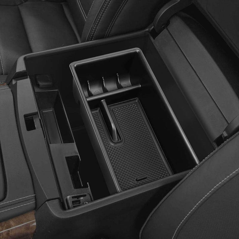 Black Center Console Storage Organizer Top Tray Lid For 16-18 Toyota Tacoma DOHC-Interior-BuildFastCar