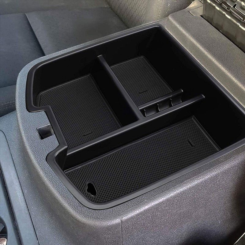 Black Center Console Organizer Top Tray Lid For 07-14 Silverado 2500 HD/3500 HD-Interior-BuildFastCar