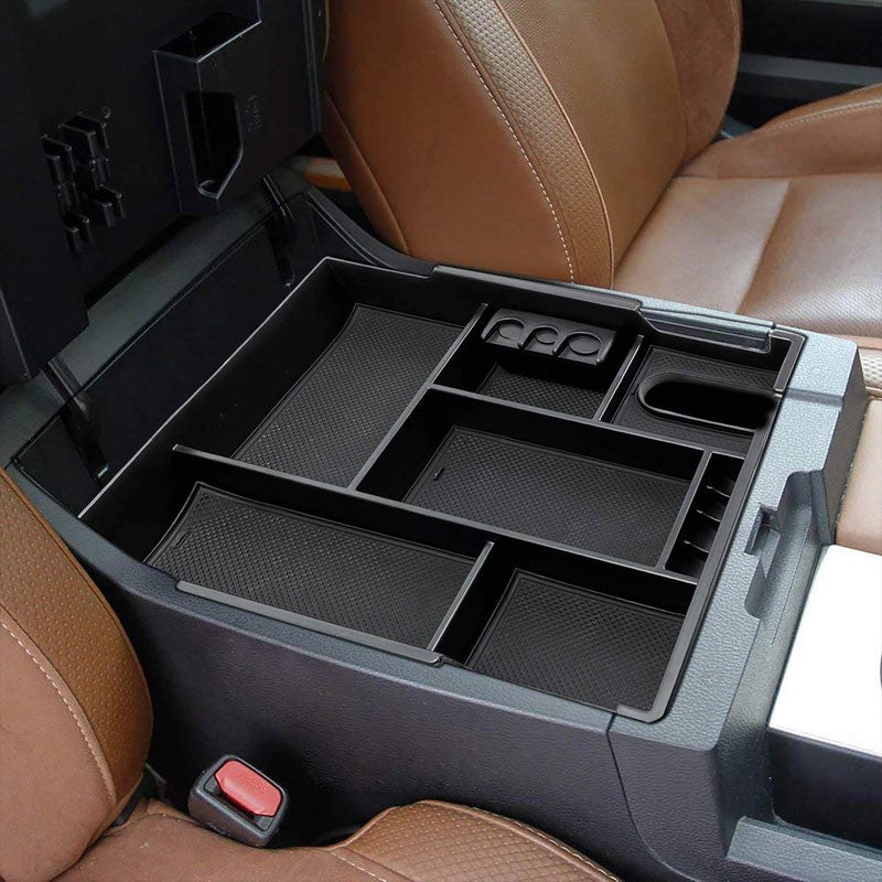 Black Center Console Organizer Coin Holder Top Tray Lid For 14-19 Toyota Tundra-Interior-BuildFastCar