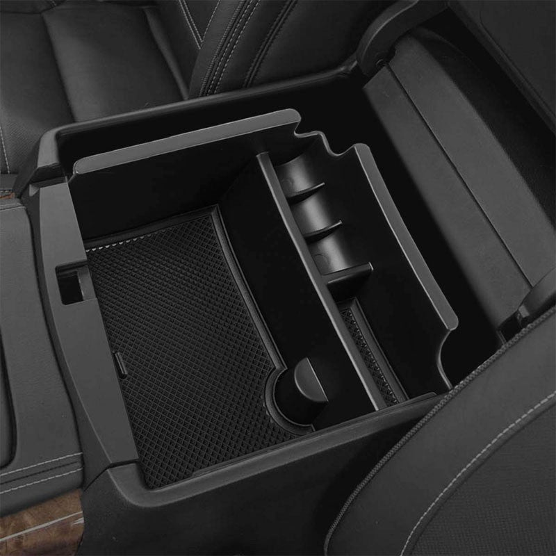 Black Center Console Storage Organizer Top Tray Lid For 16-17 Nissan Maxima 3.5L-Interior-BuildFastCar