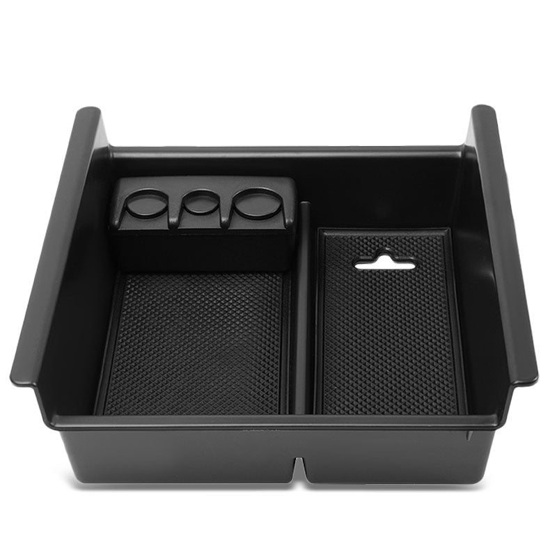 Black Center Console Organizer Coin Holder Top Tray Lid For 10-18 Toyota 4Runner-Interior-BuildFastCar