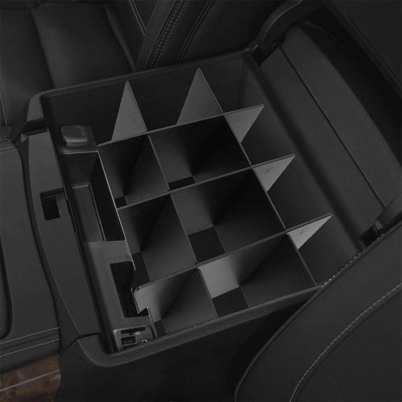 Black Center Console Storage Organizer Insert Divider For 14-19 Toyota Tundra-Interior-BuildFastCar