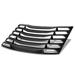 Matte Black Rear Window Louver Side Scoop Cover For 16-19 Chevrolet Camaro Coupe-Body Hardware/Replacement-BuildFastCar