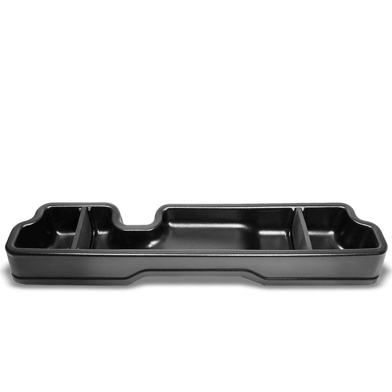 Black ABS Plastic Under Seat Cargo Storage For 04-08 Ford F-150 4.2L/4.6L/5.4L-Consoles & Parts-BuildFastCar