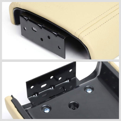 Beige Leather OE Factory Center Console Tray Lid For 02-09 Chevrolet Trailblazer-Consoles & Parts-BuildFastCar