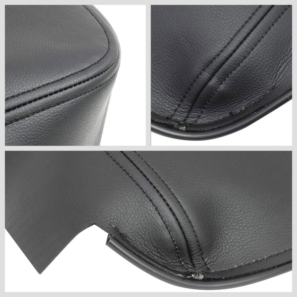 Black Microfiber Leather Center Console Armrest Cover For 02-08 Dodge Ram 1500
