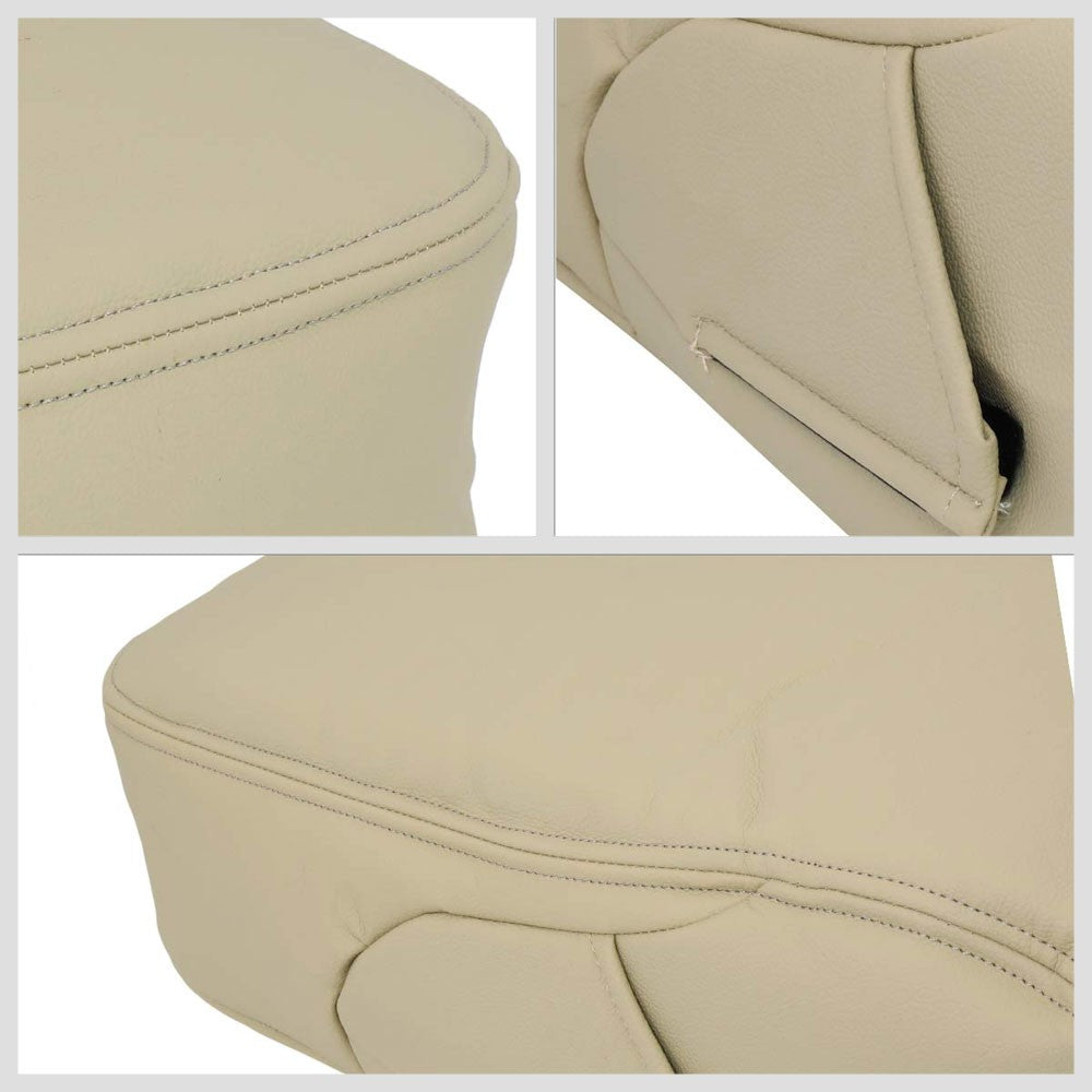 Beige Leather Center Console Armrest Cover For 07-14 Silverado 1500/2500/2500 HD