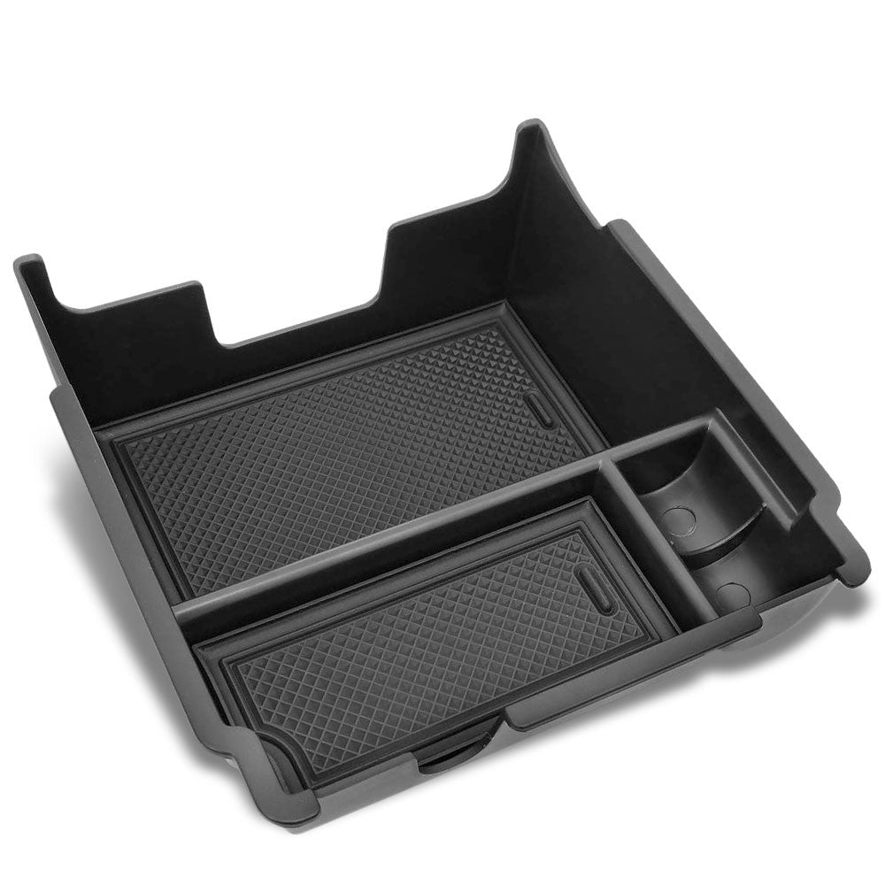 Black Plastic/Silicone OE Center Console Organizer For 18-19 Subaru Impreza H4