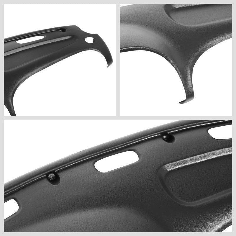 Black ABS Plastic Panel Overlay Cap Dashboard Cover For 98-01 Dodge Ram 1500