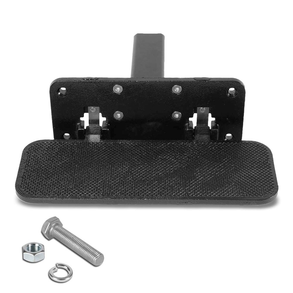 "14""Long/5"" Wide Folding Step Heavy Duty Tow Hitch Step Bar Black For 2"" Receiver"