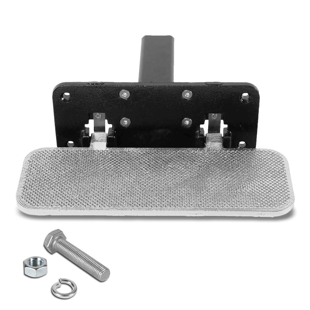 "14""Long/5"" Wide Folding Step Heavy Duty Hitch Step Bar Silver For 2"" Receiver"