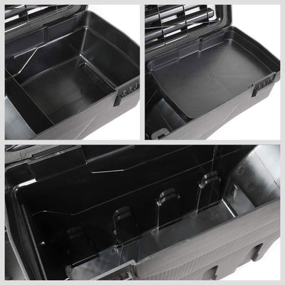 Black Left Wheel Well Swing Tool Box For 07-18 Chevy Silverado 1500/19 1500 LD-Truck & Towing-BuildFastCar