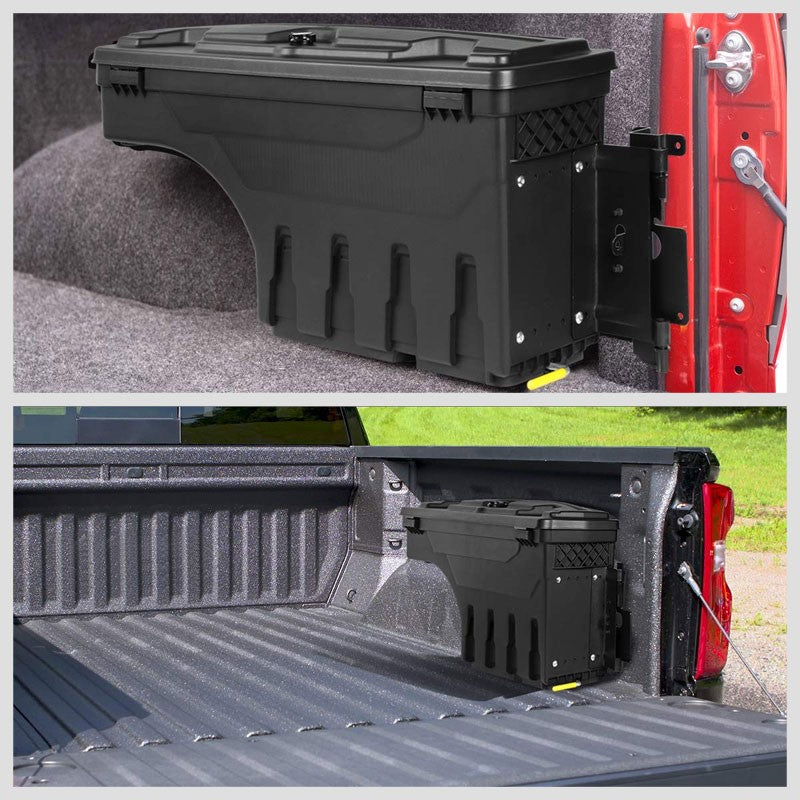Black Right Wheel Well Swing Tool Box For 07-18 Chevy Silverado 1500/19 1500 LD-Truck & Towing-BuildFastCar