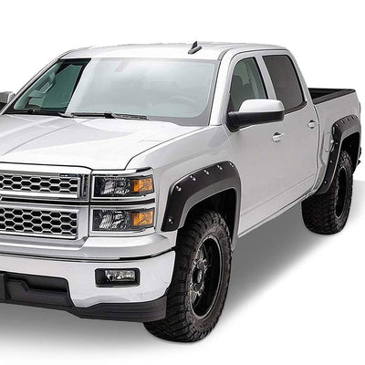 4PCS Black Pocket Style Wheel Fender Flares For 14-19 Silverado 1500 W/5.8' Bed