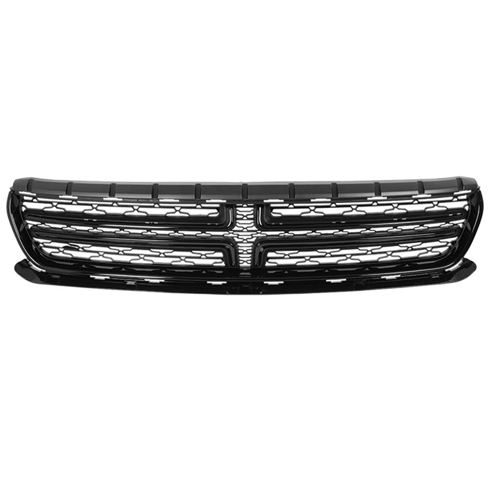 black abs plastic oe front grille for 2015-2018 dodge charger 3.6l/5.7l/6.4l