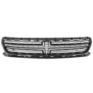 black body/chrome trim oe front grille for 15-18 dodge charger 3.6l/5.7l/6.4l