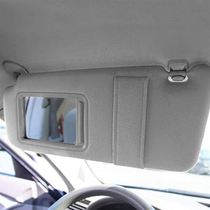 Grey Vinyl/Glass OE Factory Driver Sun Visor For 07-11 Toyota Camry 2.5L/3.5L-Consoles & Parts-BuildFastCar