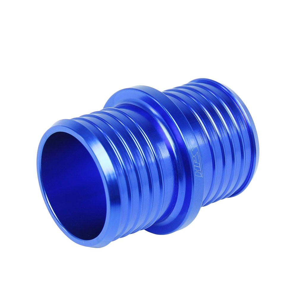 "HPS 1-3/8"" (35mm) Blue Billet 6061 Aluminum Joiner Hose Union Connector"
