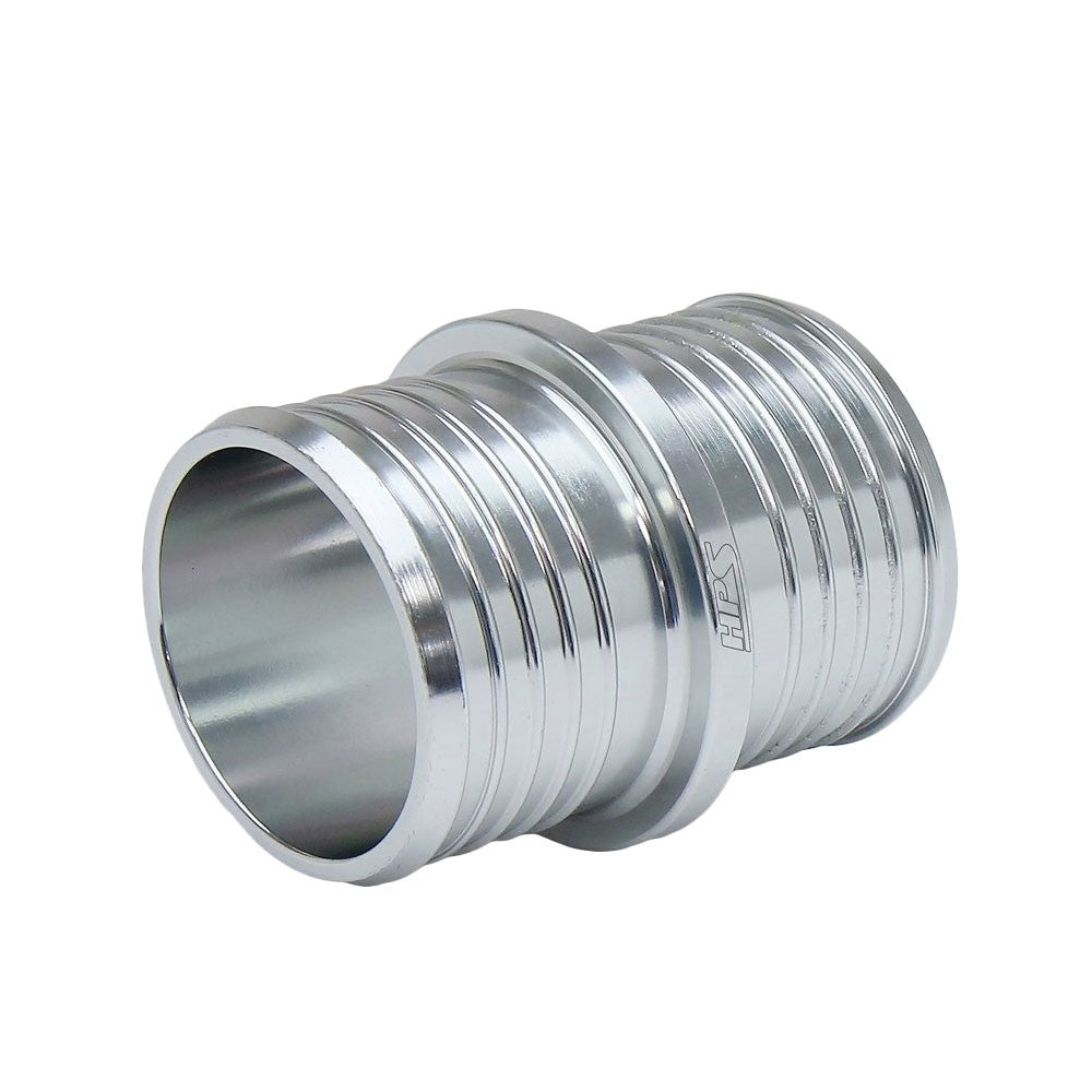 "HPS 1-1/4"" (32mm) Silver Billet 6061 Aluminum Joiner Hose Union Connector"