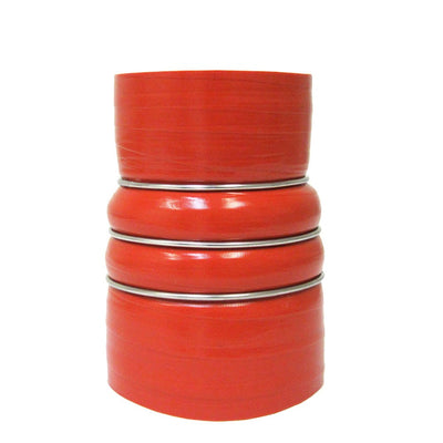 "HPS Orange 3""-4"" 4-ply Silicone Charge Air Cooler CAC Coupler Hose 7""-Performance-BuildFastCar"