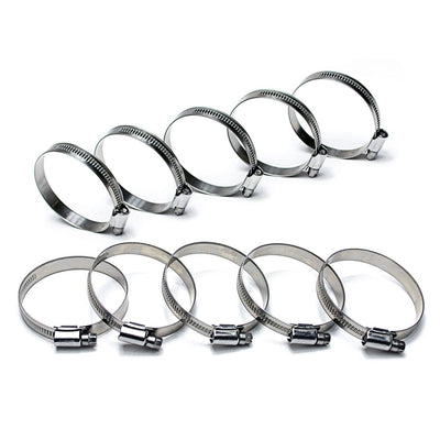 "10x HPS 1-1/16""-1-1/2"" (26mm - 38mm) Stainless Steel Embossed Hose Clamps SAE 16-Performance-BuildFastCar"