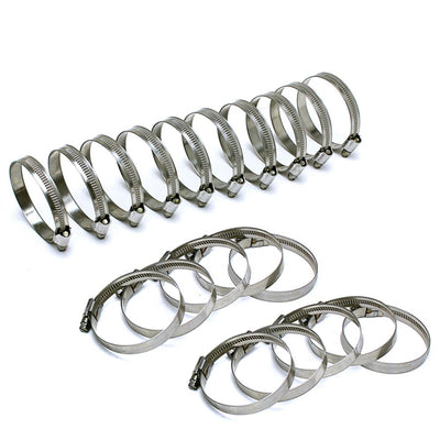"20x HPS 7/16"" - 11/16"" (11mm - 17mm) Stainless Steel Embossed Hose Clamps SAE 4-Performance-BuildFastCar"