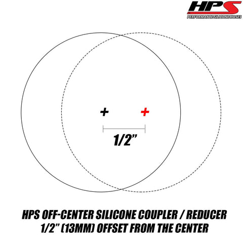 High Temp 4-Ply Reinforced 4 Length Silicone Reducer Coupler Hose Silicone HPS HTSRNBLK-110 1.5-2 ID Black