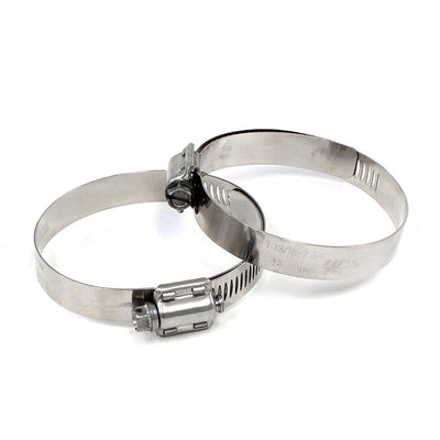 2x HPS 84mm-108mm Stainless Steel Worm Gear Liner Clamp For 83mm-95mm ID Hose-Performance-BuildFastCar