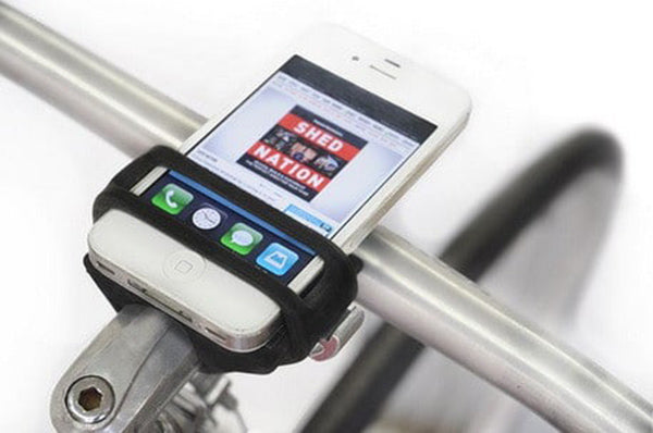 Handleband smartphone bicycle mount
