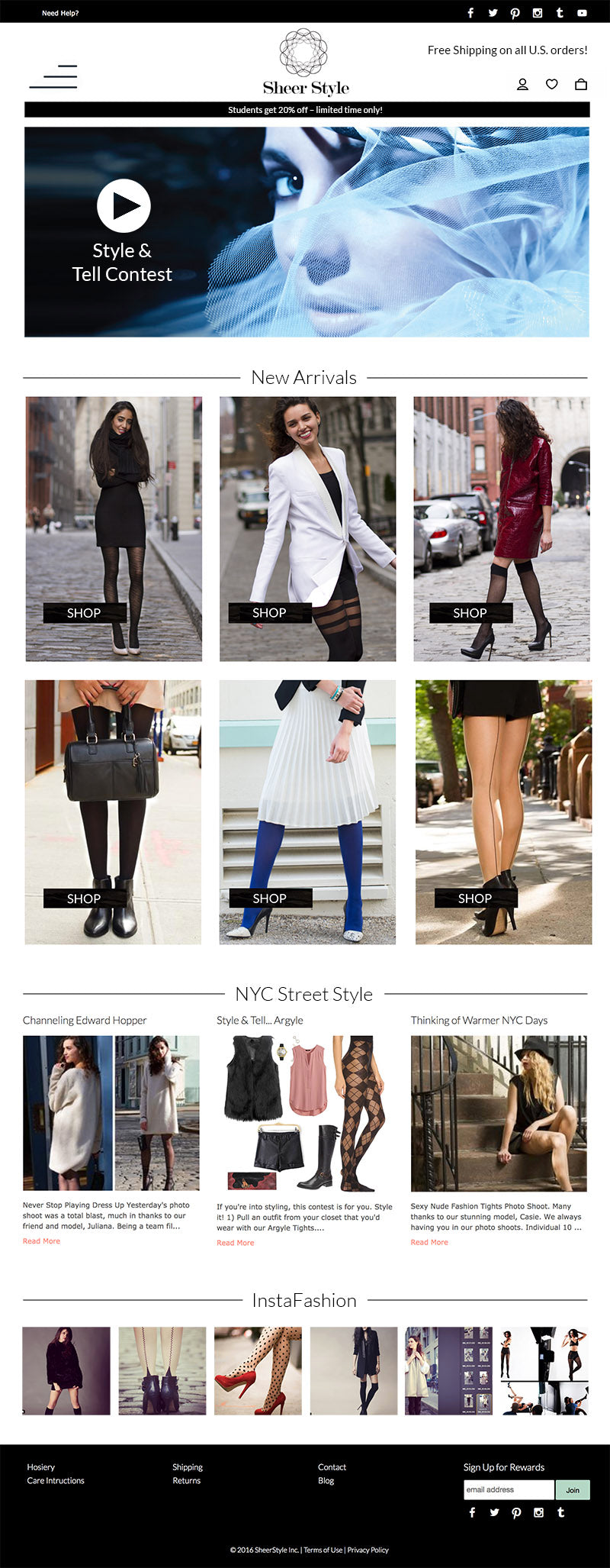 SheerStyle website