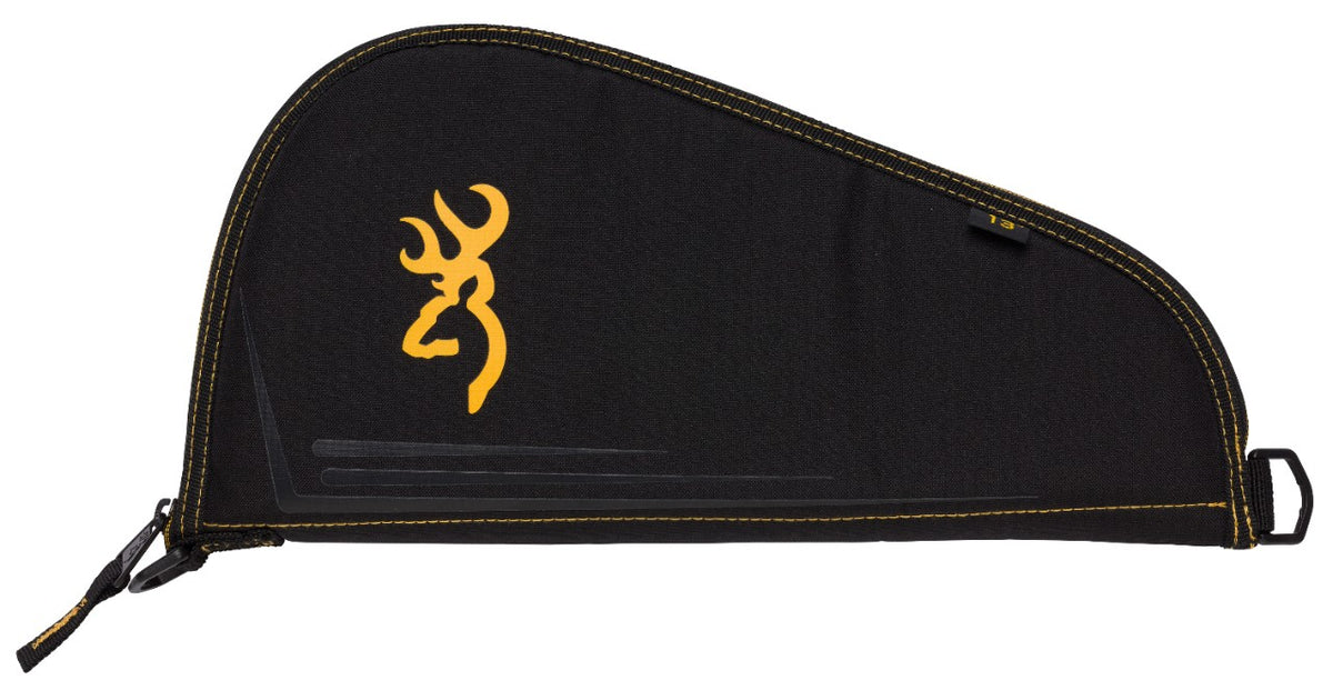 PISTOL RUG,BLACK AND GOLD 11in