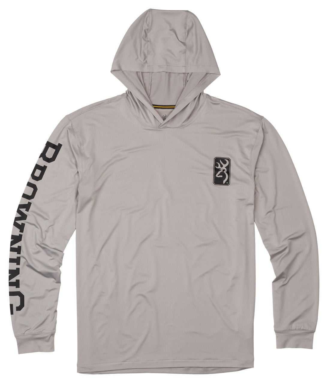 SHT,HOODED,LS,TECH,LIGHT GRAY,2XL