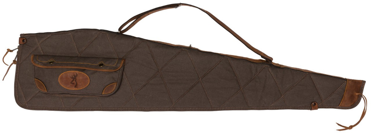 Lona Canvas/Leather Rifle Case, Flint/Brown