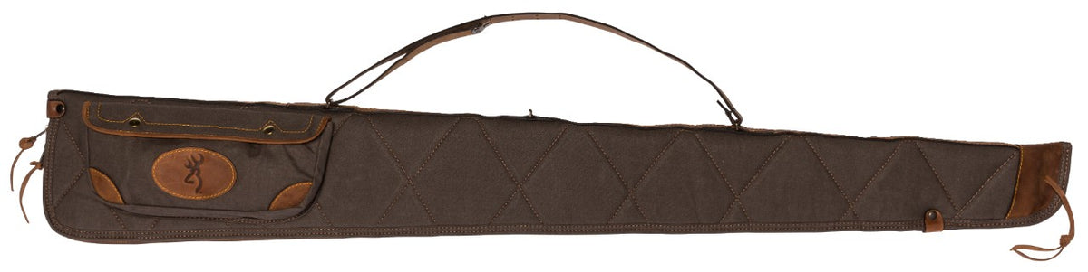 Lona Canvas/Leather Shotgun Case,  Flint/Brown