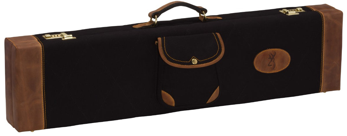 Lona Canvas/Leather Fitted Case, Black/Brown