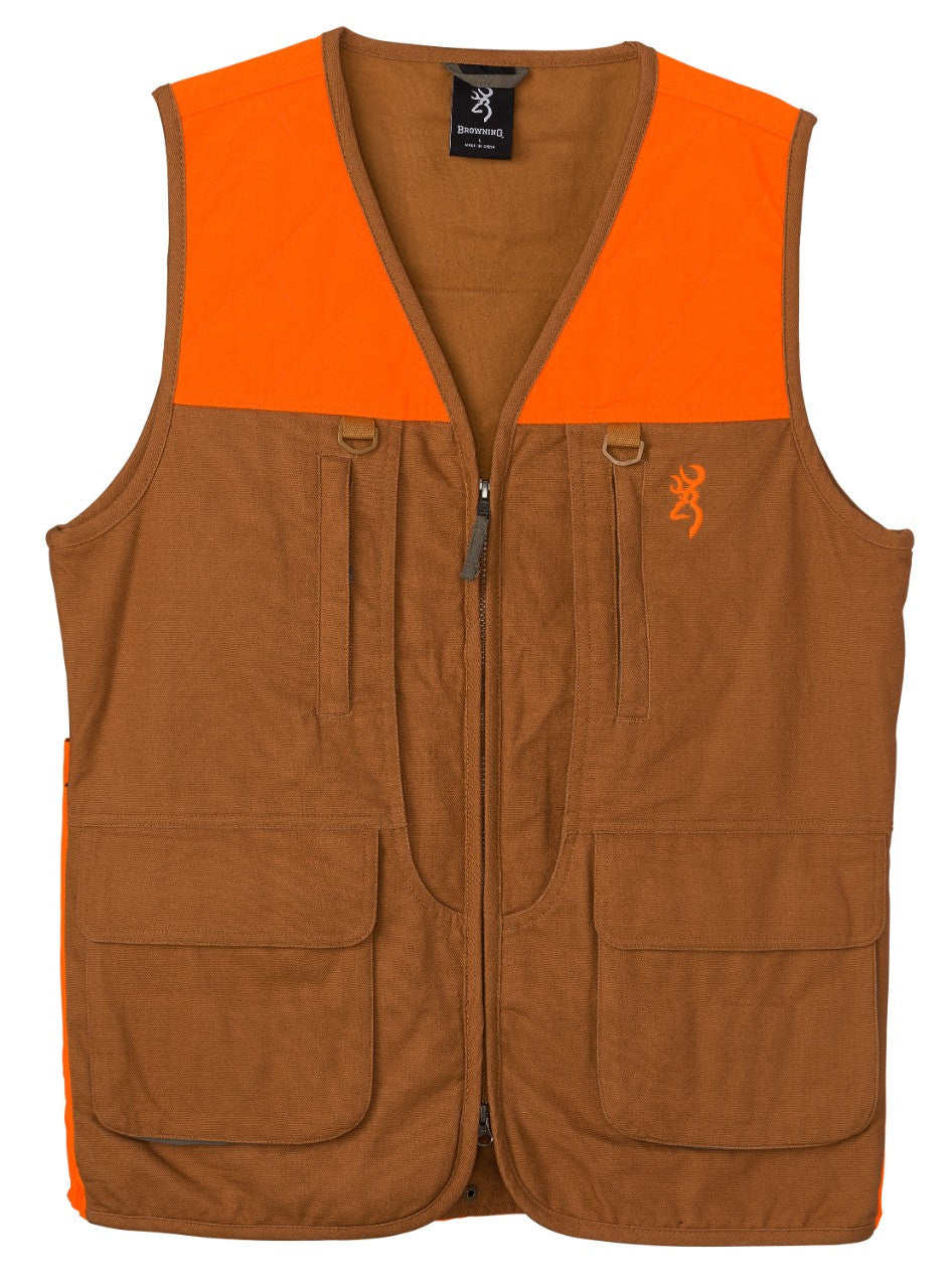 VEST,UPL W/BLZ TRIM,TAN,2XL