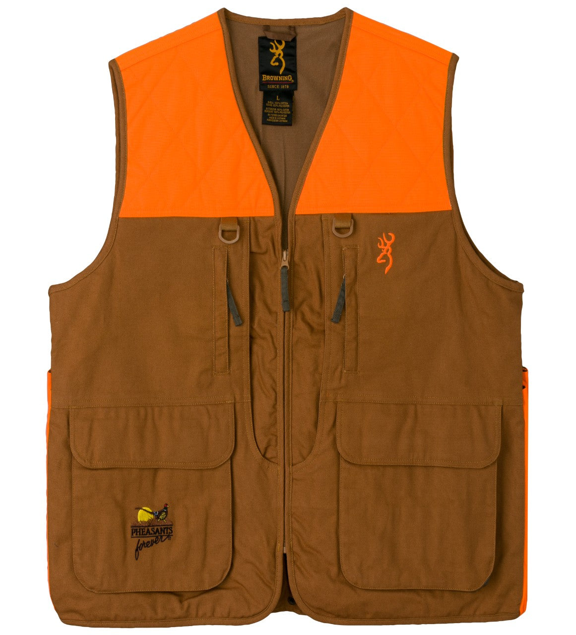VEST,PF,UPL,W/BLZ TRIM,TAN,XL
