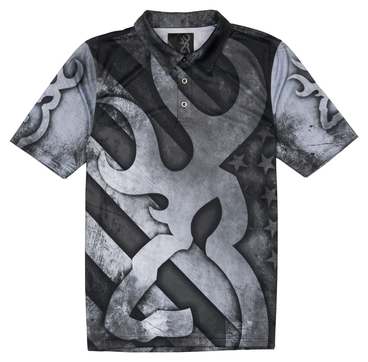 SHT,BROWNING TEAM,BLACK/WHITE,2XL