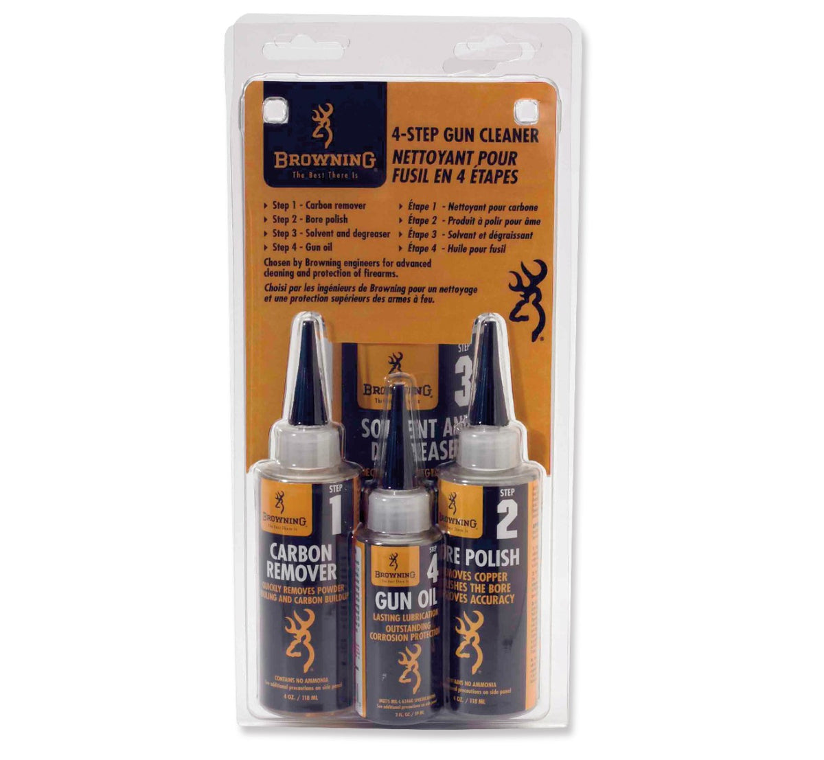 GUN CARE,4-STEP CLNR, PREPACK