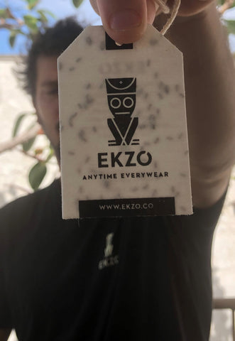 Close up of product tag with seeds in it