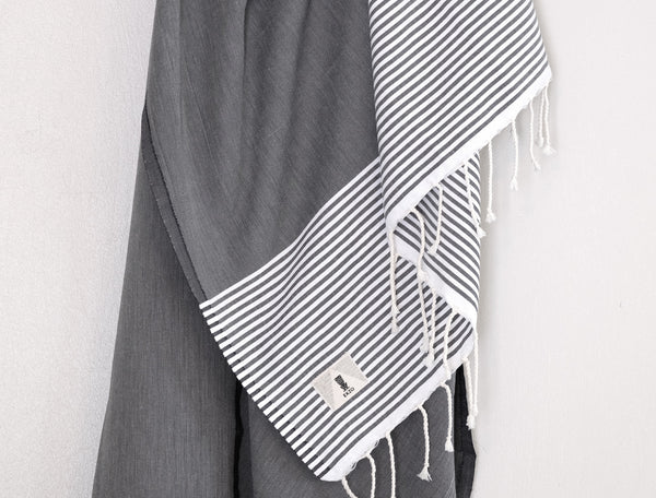 Slate Stripes - Beach Towel