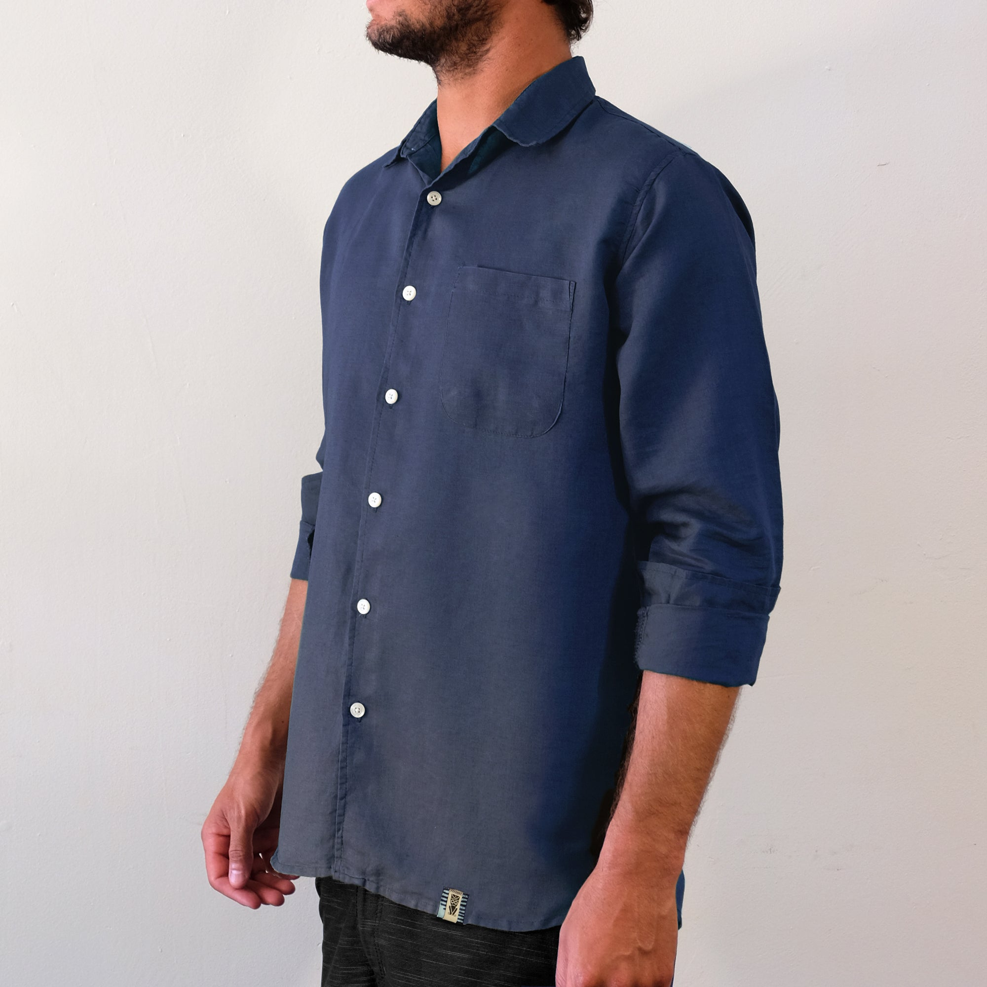 Aegean Blue Long Sleeve Shirt