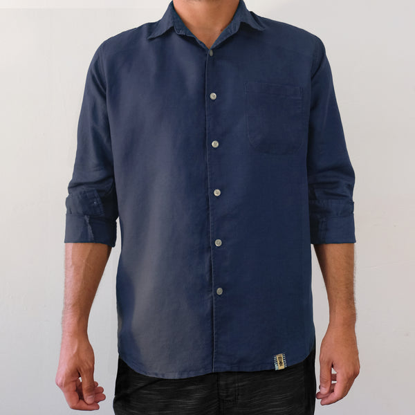 Aegean Blue Long Sleeve Shirt - EKZO
