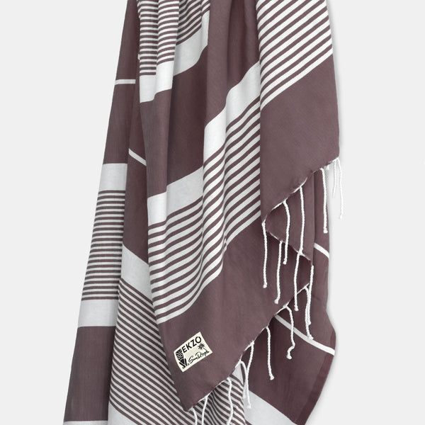 Aubergine Stripes - Beach Towel