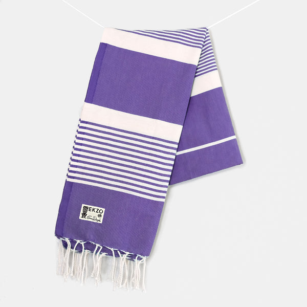 Purple Stripes - Beach Towel
