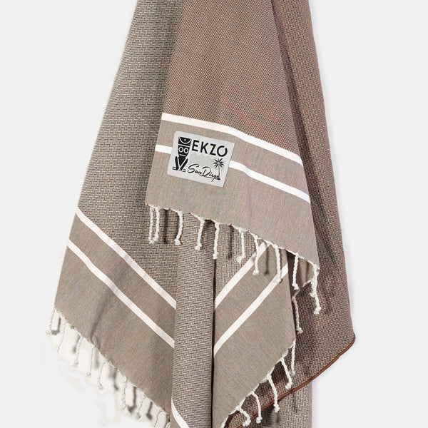 Brown - Beach Towel - EKZO