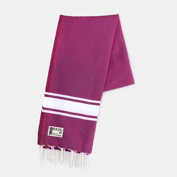 Burgundy - Beach Towel - EKZO